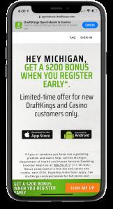 michigan-draftkings-sportsbook-mobile app